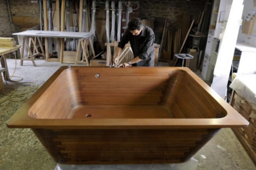 Bain japonais en bois