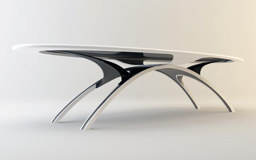 Table en Corian® & Carbone