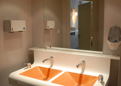 Plan vasque double en Corian®